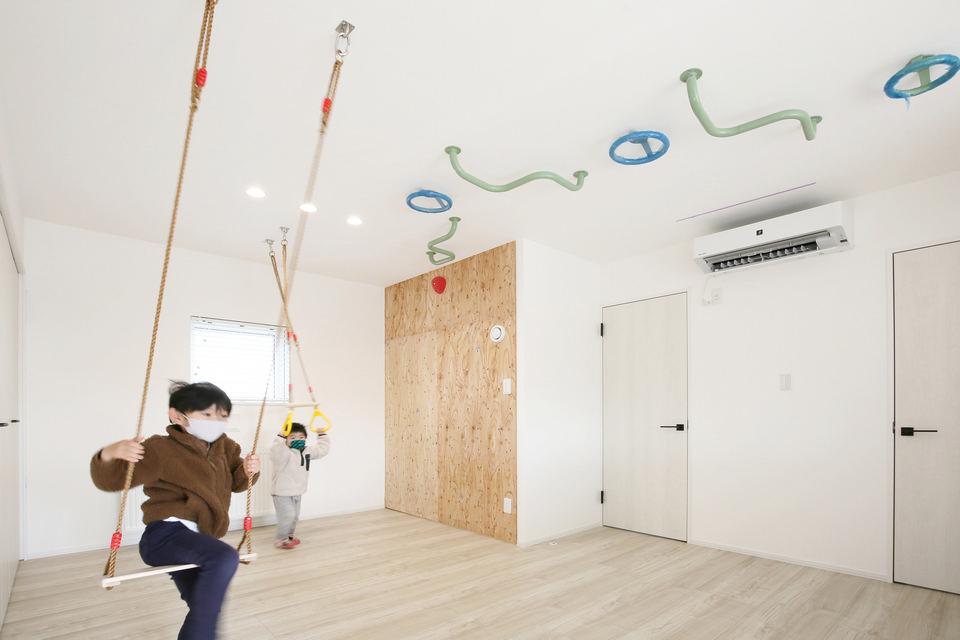 新型コロナに負けない!家の中で子どもが運動できる家/M様邸(札幌市東区)
