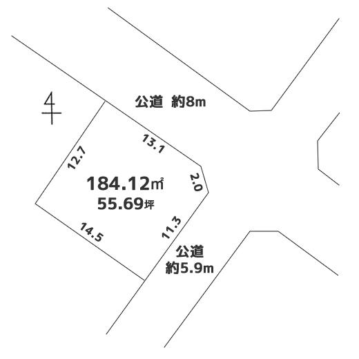【成約】売土地 北区新琴似5条 1130万